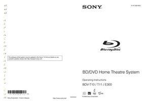 SONY bdve300om Operating Manuals