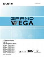 SONY kdf42e2000om Operating Manuals
