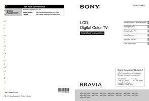 SONY kdl32ex301om Operating Manuals
