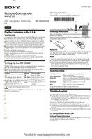 SONY rmvz220om Operating Manuals