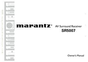 MARANTZ sr5007om Operating Manuals