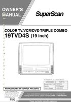 Superscan 19TVD4SOM Operating Manuals
