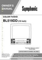 SYMPHONIC BL519DDOM Operating Manuals