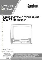 SYMPHONIC CWF719OM Operating Manuals