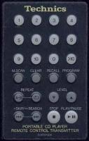TECHNICS EURXP300 Remote Controls