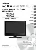 TOSHIBA 15lv505 15lv506om Operating Manuals