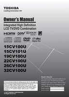 TOSHIBA 19cv100uom Operating Manuals