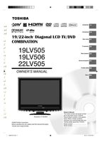 TOSHIBA 19lv505om Operating Manuals