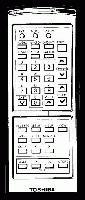 TOSHIBA trx2000r Remote Controls