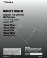 TOSHIBA 26av500uom Operating Manuals