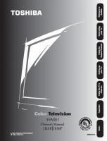 TOSHIBA 36ax61om Operating Manuals