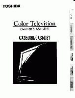 TOSHIBA cx35d80om Operating Manuals