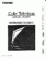 TOSHIBA cx35e60om Operating Manuals