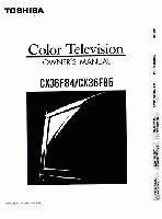 TOSHIBA cx36f84om Operating Manuals