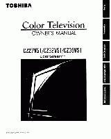 TOSHIBA cz27v51om Operating Manuals