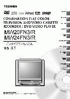 TOSHIBA mw20fn3r mw24fn3rom Operating Manuals