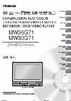 TOSHIBA mw26g71 mw30g71om Operating Manuals