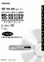 TOSHIBA rdxs32om Operating Manuals