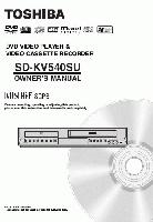 TOSHIBA sdkv540suom Operating Manuals