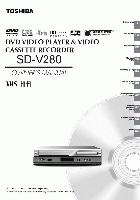 TOSHIBA sdv280om Operating Manuals