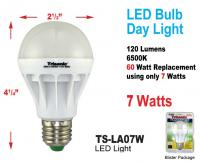 Trisonic 60 Watt Equivalent Day Light Light Bulb