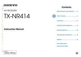 ONKYO TXNR414OM Operating Manuals