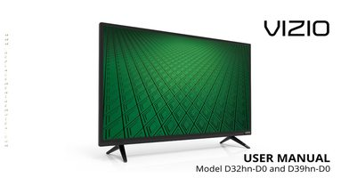 VIZIO d32hnd0om Operating Manuals