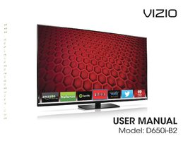 VIZIO d650ib2om Operating Manuals