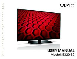 VIZIO e320b2 Operating Manuals