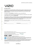 VIZIO E320VLE370VLOM Operating Manuals