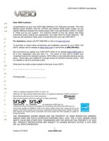 VIZIO e370vaom Operating Manuals