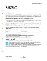 VIZIO e420voom Operating Manuals