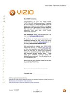 VIZIO gv52lfom Operating Manuals