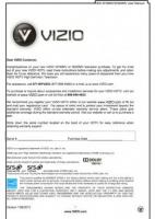 VIZIO m190mvom Operating Manuals