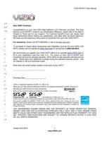 VIZIO m370vtom Operating Manuals
