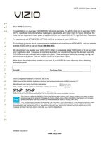 VIZIO m420nvom Operating Manuals
