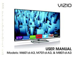 VIZIO m601da3om Operating Manuals
