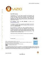 VIZIO voj320f1aom Operating Manuals