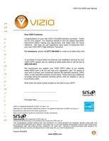 VIZIO voj320mom Operating Manuals