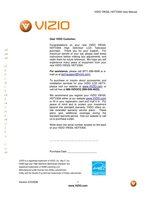 VIZIO vw32lhdtv20aom Operating Manuals