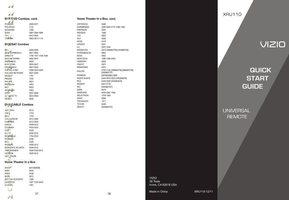 VIZIO xru110om Operating Manuals