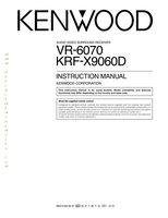 KENWOOD vr6070om Operating Manuals