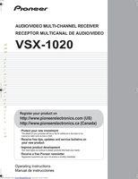 PIONEER VSX1020OM Operating Manuals