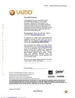 VIZIO vw32lhdtv40aom Operating Manuals