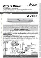 FUNAI wv10d6om Operating Manuals
