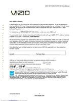 VIZIO xvt373svom Operating Manuals