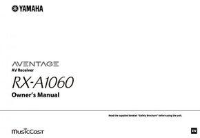 YAMAHA rxa1060om Operating Manuals