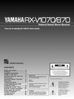 YAMAHA rxv1070 rxv870om Operating Manuals