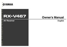 YAMAHA rxv467om Operating Manuals