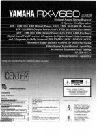 YAMAHA rxv660om Operating Manuals